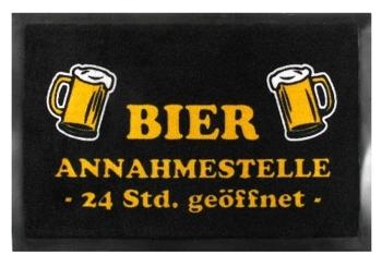 Fußmatte Bier-Annahmestelle