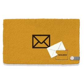 Kokos-Fußmatte Mailbox Yellow