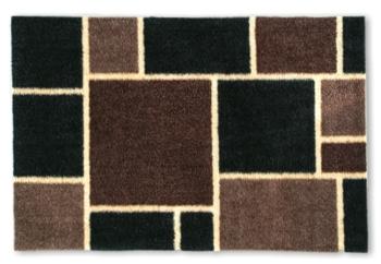 Fußmatte Quadro braun/schwarz
