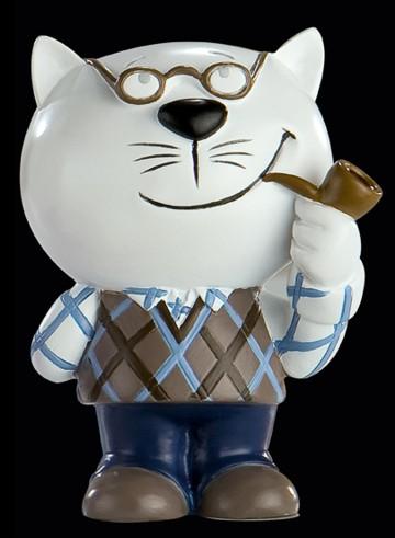 Katzen-Figur Gustav Genügsam