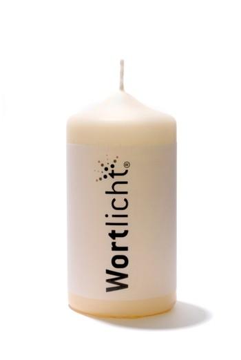 Wortlicht-Kerze Wünsche zur Hochzeit