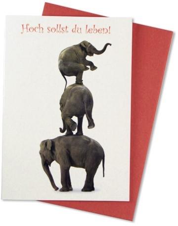 Glückwunschkarte Elefantenturm
