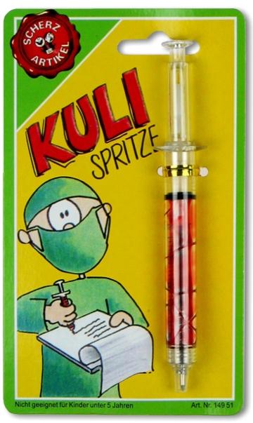 Kugelschreiber Spritze
