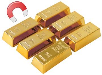 Magnete Goldbarren