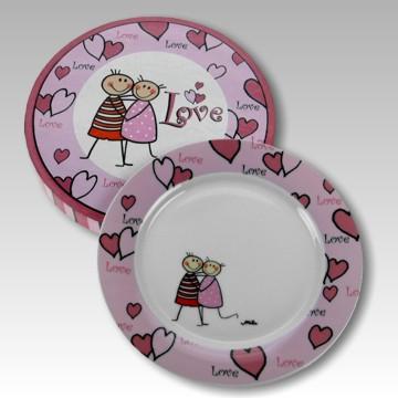 Teller Love rosa