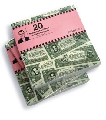Servietten Obama Dollar