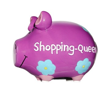 Sparschwein Shopping Queen