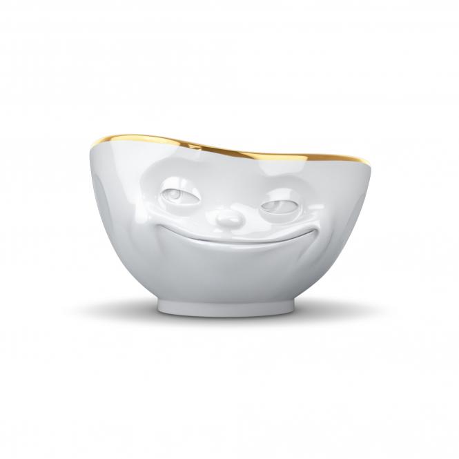 Tasse Grins mit Goldkante