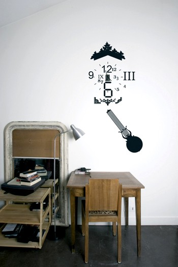 Wandaufkleber Clock