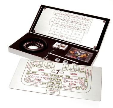 Casino-Spielset Roulette/Black Jack/Craps