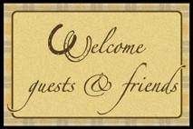 Waschbare Komfortmatte Welcome guests & friends