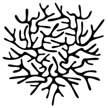 Wandaufkleber Coral silber